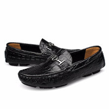Big Size Alligator Soft Leather Loafers Shoes