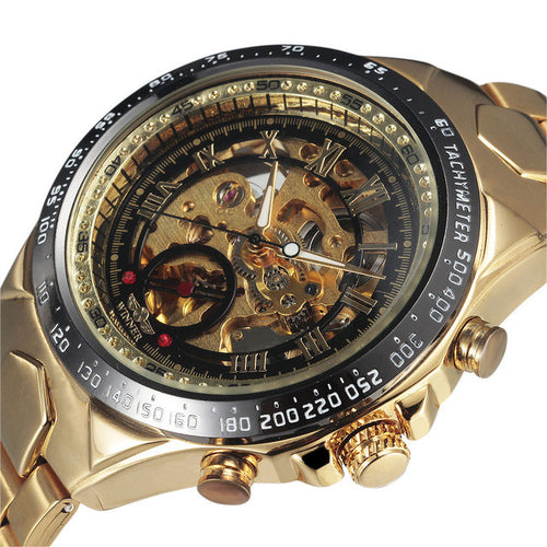 Golden Bezel Mens Top Luxury Watch