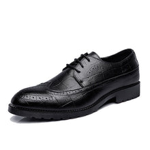 2018 Men's Brogue Shoes Retro Leather Oxford Shoes