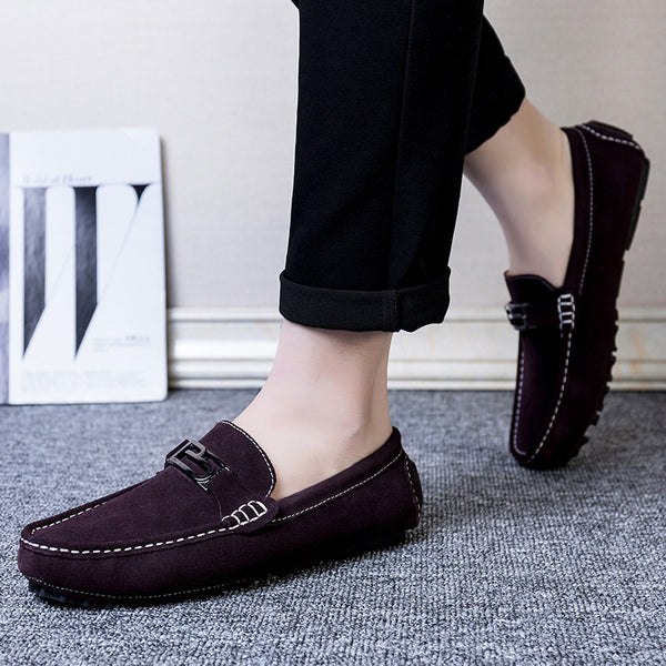 Round Toe Suede Plain Men's Casual Shoes