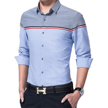 Brand Slim Long Patchwork Casual Chemise Men's T-shirt