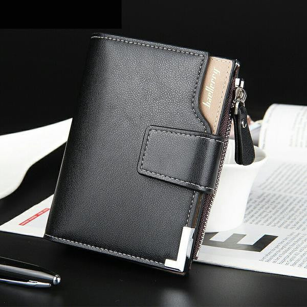 Genuine Leather Man Wallet With Soft Zipper