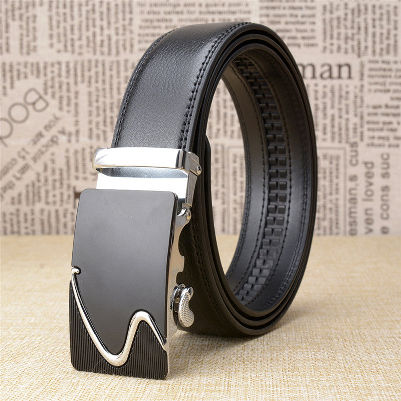 Automatic Buckle Alloy Plain Men's Belts