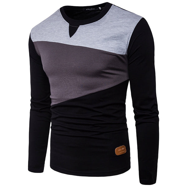 Recreational Round Collar And Long Sleeves Men's Sweatshirt