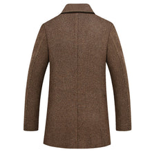 Thicken Woolen Wool Blends Lapel Men's Trench Coat