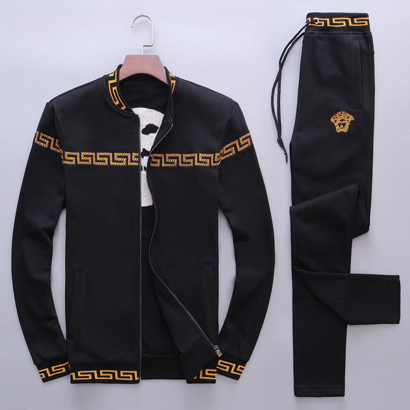 Long Sleeve Dress Pattern Men's Sports Suits
