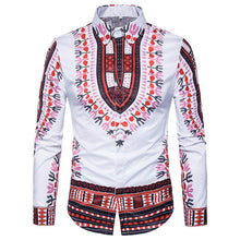 2018 Men's Fashion Printed Hip-hop Casual Shirt