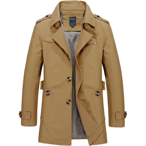 Casual Cotton Jacket Exquisite Men's Trench Coat