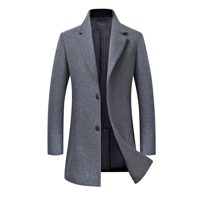 Wool Free Comfortable Single Breasted Men's Trench Coat