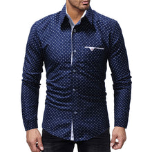 Printing Cotton Blends Polka Dots Men's Shirt