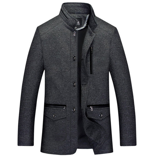 Brief Comfortable Ethnic Single Breasted Men's Trench Coat
