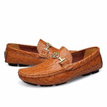 Plus Size Alligator Soft Leather Loafers Mens Slip-on Shoes