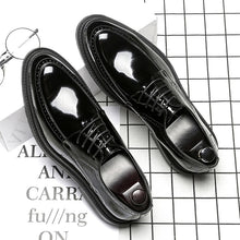 Black PU Rubber Point Toe Men's Formal Shoes
