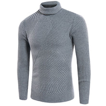 Plain Turtleneck Acrylic Pullover Men's Sweater