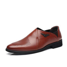 2018 Men British Style Genuine Leather Dress Shoes