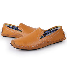 Big Size Handmade Soft Genuine Leather Men Shoes