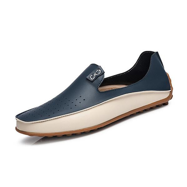 Fashion PU Leather Casual Loafers Men Driving Shoes