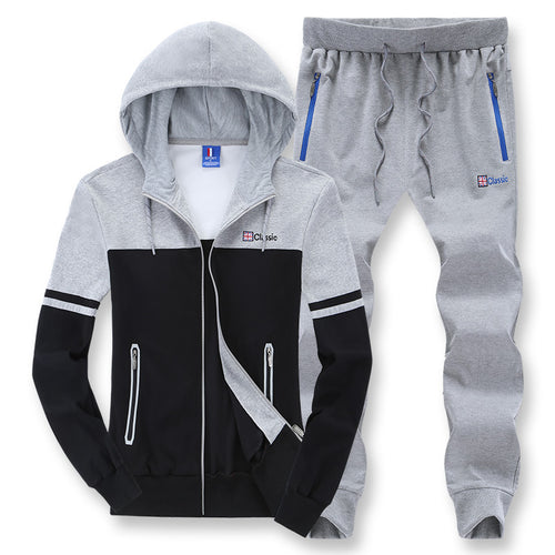 Panelled Hooded Cardigan Mountaineering Trips Men's Sports Suit