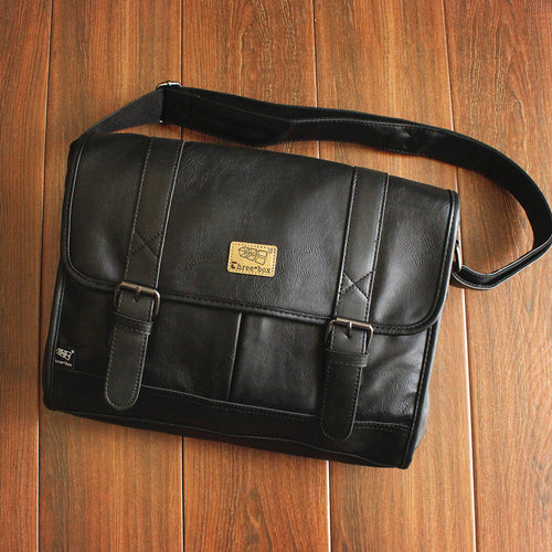 Leather Shoulder Buckle Men's Bags