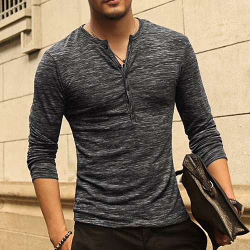 2018 Men's New Sleeve Stylish Slim Fit T-shirt