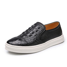 Plus Size Croco Slip On Men's Loafers