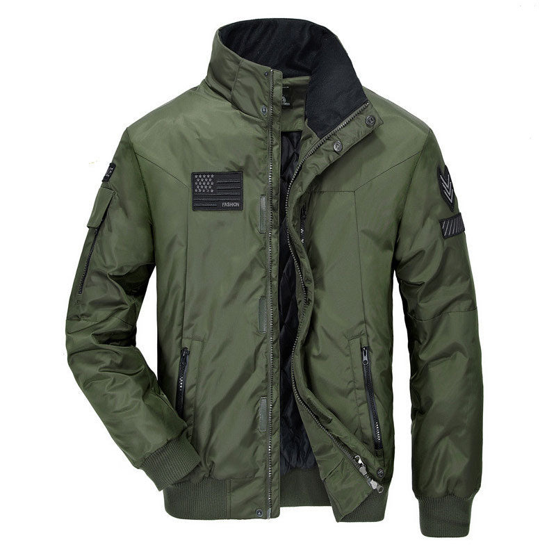 Pure Color Rock Outdoor Mountaineering Men's Jacket