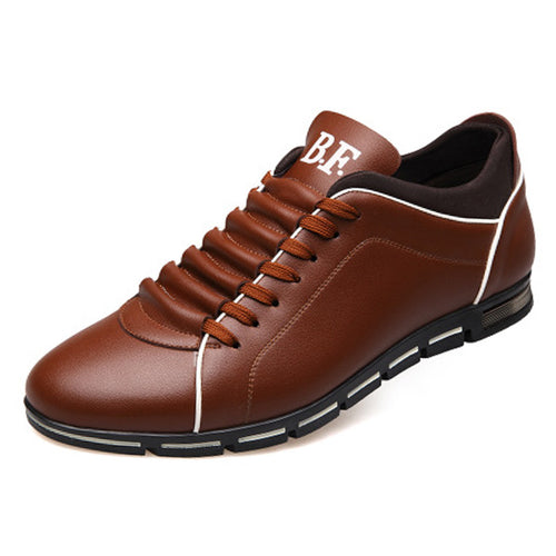 2018 New England Men Breathable Leather Big Size 6-14.5 Casual Shoes