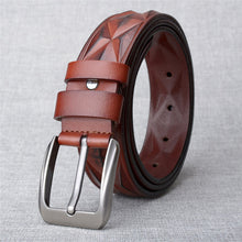 3D Print Cow Leather Alloy Men's Belts