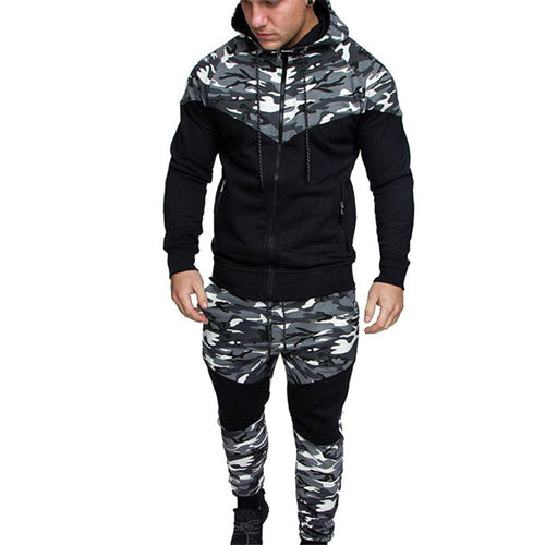 Clothing Classic Camouflage Tiles Men's Sports Suits