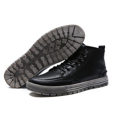 Add Velvet High Help Retro Rub Color Men's Boots