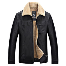 Lapel Polyester Plain Zipper PU Men's Leather Coat
