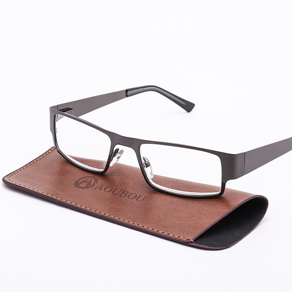 Anti-fatigue Stainless Frame Men Reading Glasses