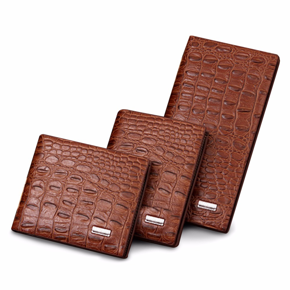 fc7d1ed107 Men's High Quality Crocodile Leather Wallets