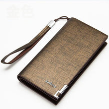 Fashion Men's Briefcase Long Zipper Leather Card Holder Wallet