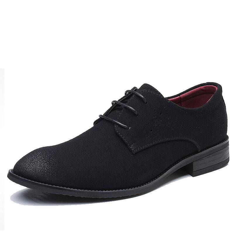 Big Size Suede Leather Retro Carved Oxford Formal Shoes