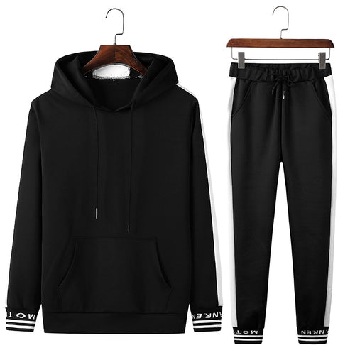 Breathable Lace Up Brief  Hooded Men's Sports Suit