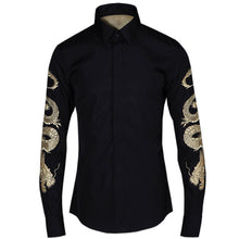 Animal Long Sleeve Single-Breasted Turn-down Collar Men's Shirt