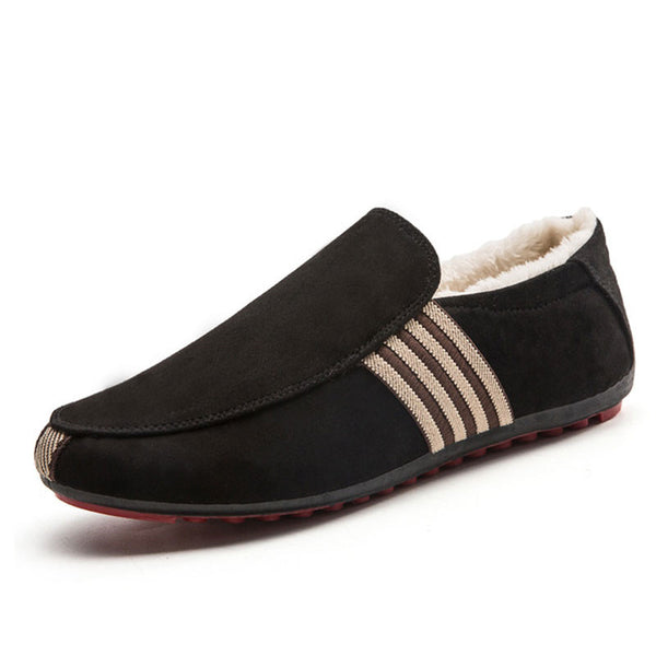 Short Plush Rubber Comfortable Men's Loafers