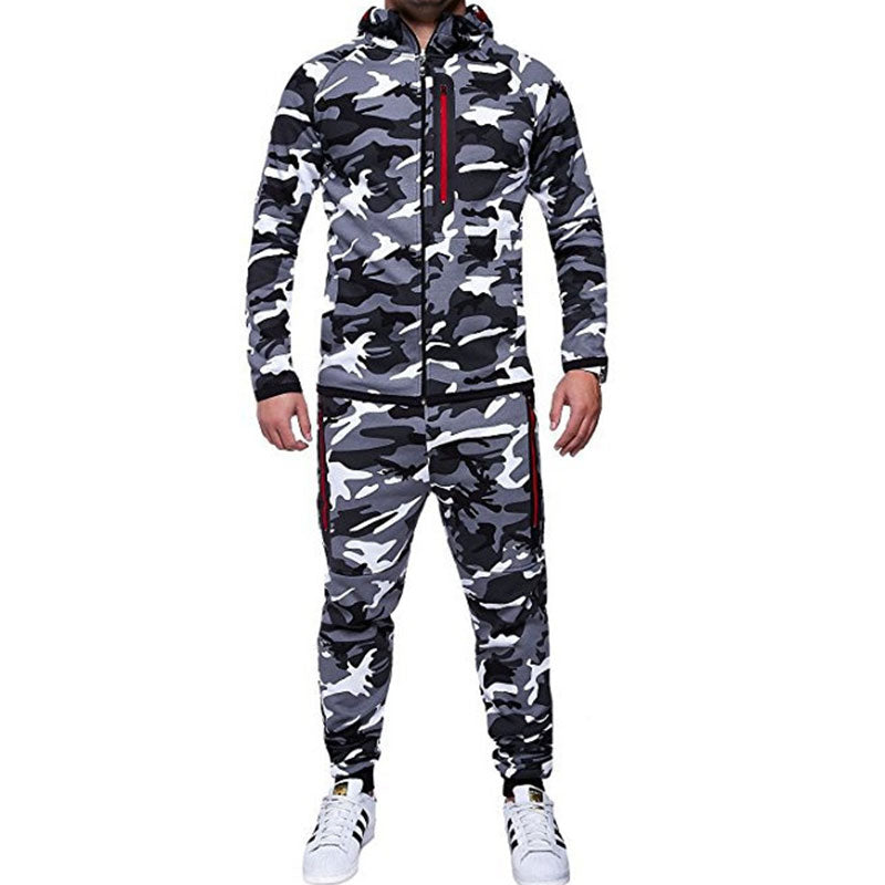 Camouflage Outdoor Tight Mountaineering Men's Sports Suit