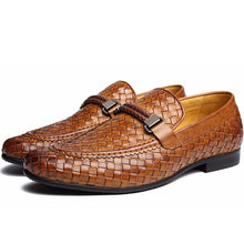 Luxury Genuine Leather Braided Men's Casual Shoes