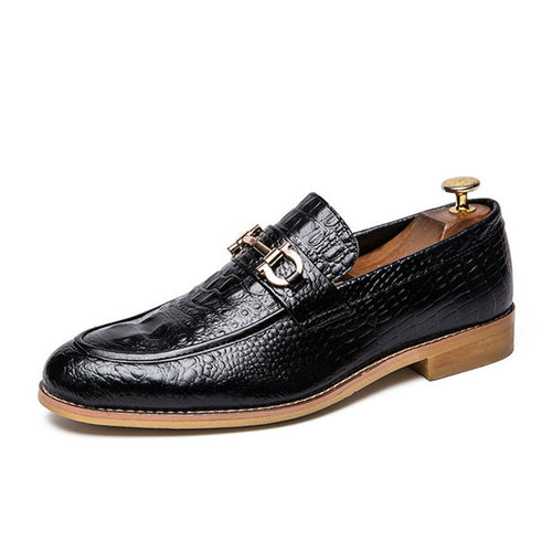 Plus Size Croco Leathe Men's Loafers