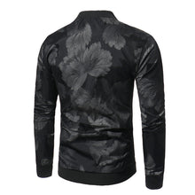Abstract Printing Leisure Collar Men's Coat