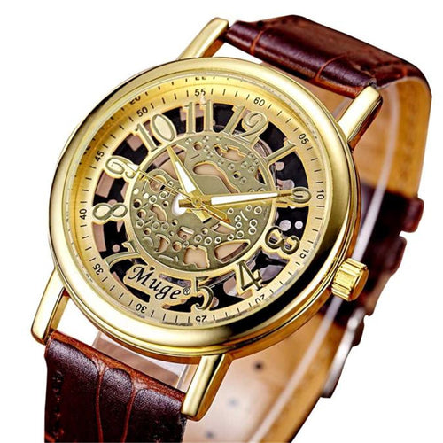 Classic Hollow Skeleton Mechanical Couple Watches