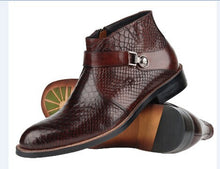 Luxury Fashion Genuine Leather Italian Ankle Boots