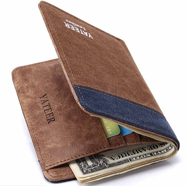 Fashion Vintage Canvas Men Wallet