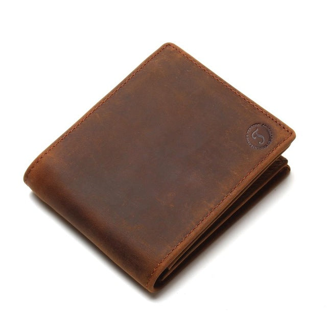 2018 Vintage Handmade Leather Men Wallets