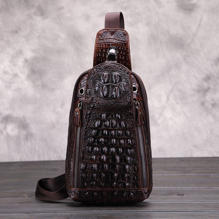 New Fashion Crocodile Style Men Chest Pack