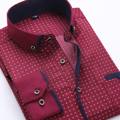 2018 Men's Fashion social business printing shirt