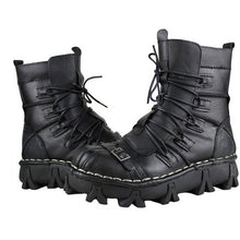 Fashion Genuine Leather Martin Punk Combat Boots