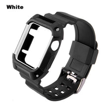 TPU Rubber Watchband With Protective Case For Apple Watch